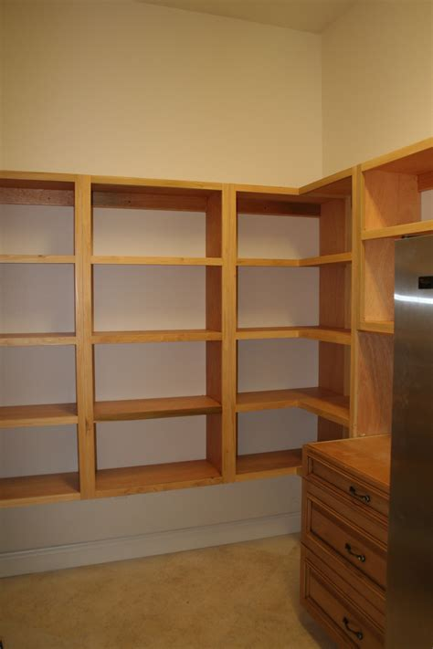 Wood Pantry Shelving Kitchen Wooden Pantry Shelving Systems For Kitchen Design