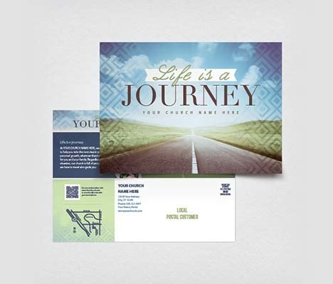 Church Postcards Customizable Designs Church Postcard Template