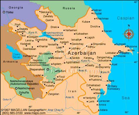 russia map azerbaijan azerbaijan map