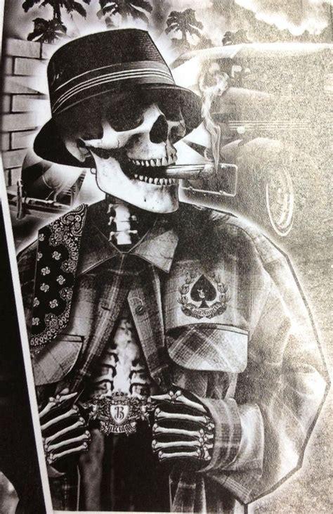 imagenes de calaveras gangster chicano art club social calaveras pinterest chicano