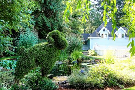 animal topiaries for sale country cottage storybook home