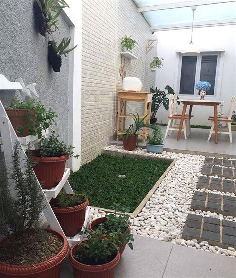 Hiasan Rumah Hiasan Dinding Bunga Nuansa Hijau 26 desain taman minimalis lahan sempit 2018 dekor rumah