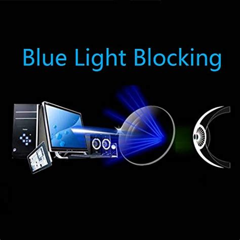 blue light blocking clear lenses cyxus blue light filter anti eye strain semi rimless