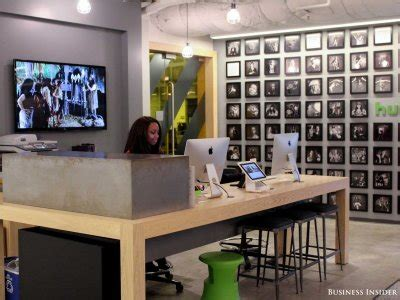 Front Desk Hq by Hulu S Los Angeles Offices Were Designed With
