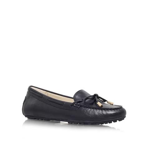 michael kors black loafers michael kors moc flat slip on loafers in black lyst