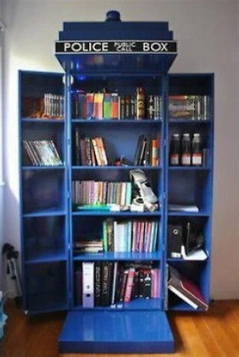 how to build your own tardis bookshelf diy tardis