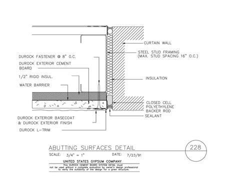 1 Hr Concrete Floor With Wood Framing - usg design studio wood stud framing details