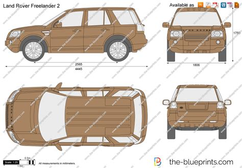 range rover vector the blueprints com vector drawing land rover freelander 2