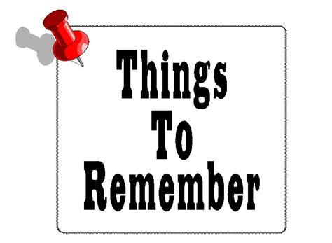 Remember Remember 2 by Free Posters And Signs Things To Remember