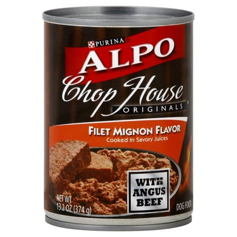 alpo chop house dog food alpo chop house originals wet dog food filet mignon flavor