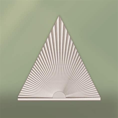 triangle window coverings triangle window covering contemporary cellular shades