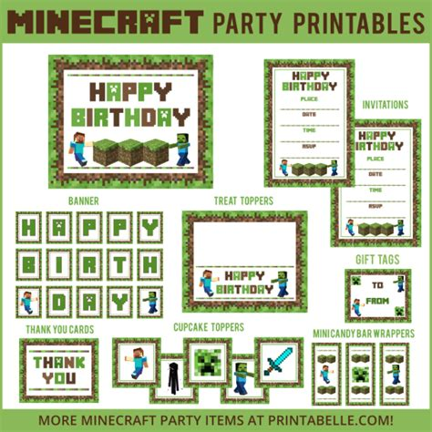 printable minecraft quiz minecraft party printable downloads party printables games