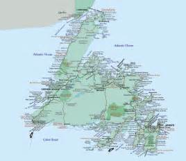 newfoundland map canada about newfoundland labrador motorcycle tour guide