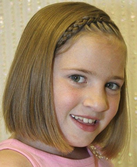 fresh little girl hairstyles for short hair kids clothes and outfit straight blunt haircut with braid short hairstyles for