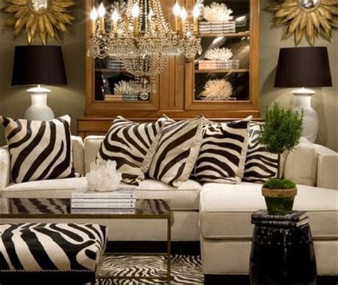Zebra Living Room Concert Zebra Pillows Contemporary Living Room