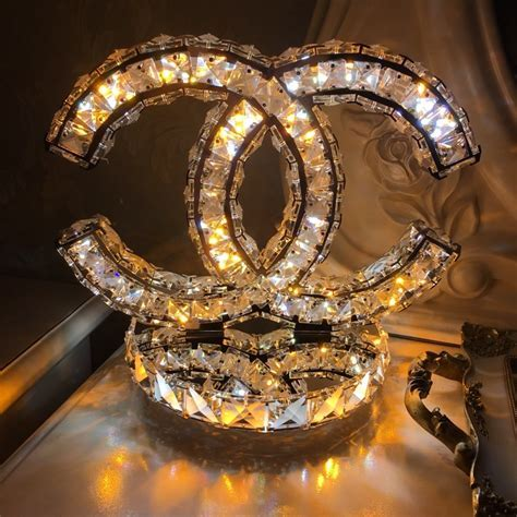CC Chanel Crystal Bling Table Lamp   B on Storenvy