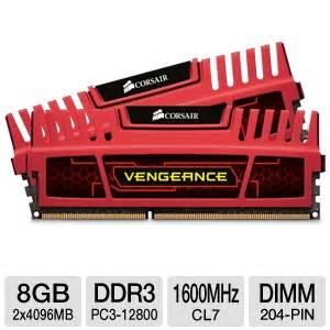 Memory Notebook Corsair 2x 8gb Vengeance Cmsx16gx3m2a1600c10 corsair cmz8gx3m2x1600c7r vengeance desktop memory kit 8gb 2x 4gb pc3 12800 ddr3
