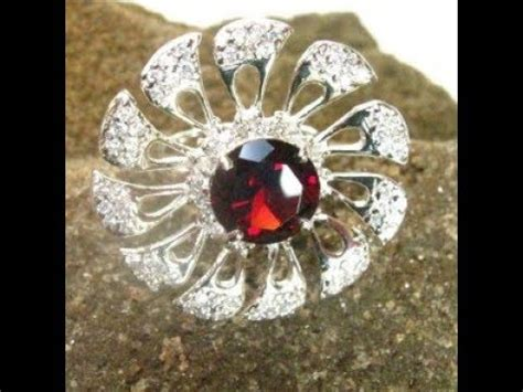 Cincin Garnet Hq Murah 1 cincin garnet model flower silver 925 ukuran 6us