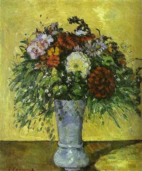 Paul Cezanne The Blue Vase by Paul Cezanne Flowers In A Blue Vase Painting Best