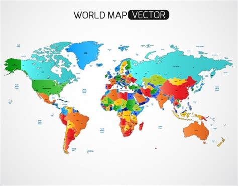 vector world map 25 free vector world maps