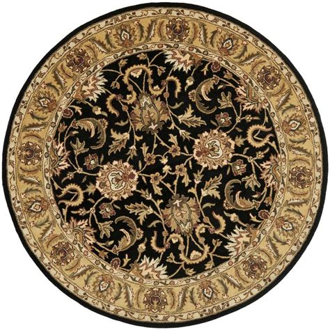 safavieh classic black gold 5 ft x 5 ft area rug