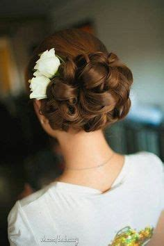 barrel curl hair pieces interwoven barrel curls bridal hairstyle by