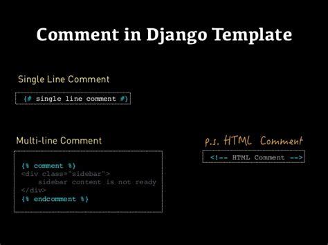 django template comment django templates