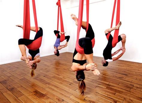Hammock Workout lifting at an aerial class
