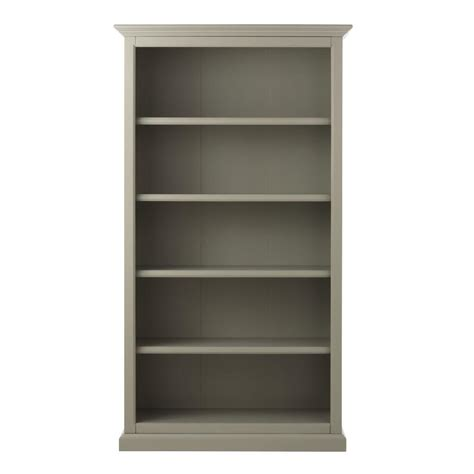 martha stewart living ingrid rubbed gray open bookcase