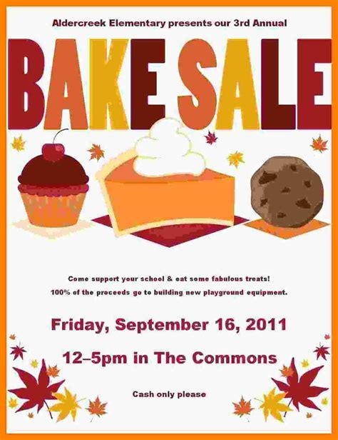 sle flyer templates word 4 bake sale template word resumes great