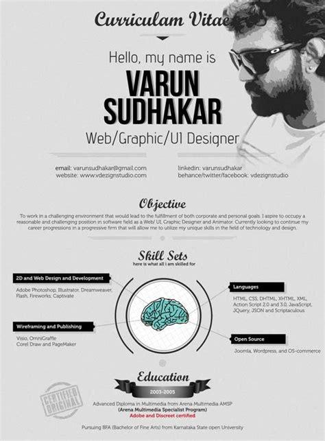 contoh cv desain komunikasi visual contoh desain resume cv unik untuk inspirasi
