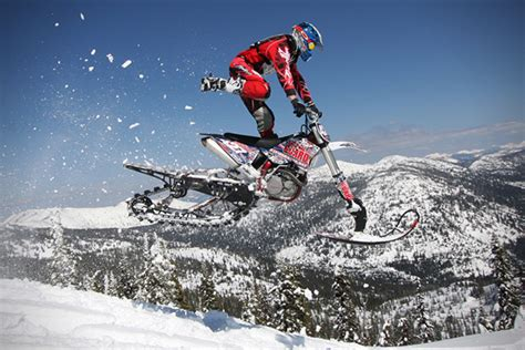 snow motocross bike timbersled mountain horse dirt bike snow kit hiconsumption