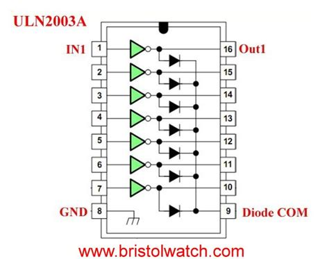 uln2003a darlington transistor array circuit exles