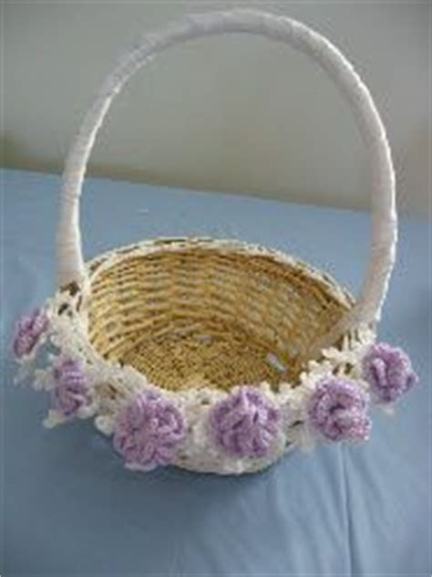 pattern flower girl basket 1000 images about free crochet patterns for a wedding on