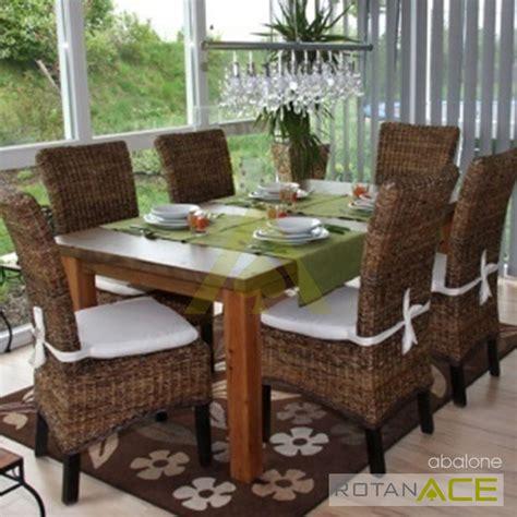 Meja Makan Ace Hardware jual abalone meja makan rotan set 6 seats harga lebih