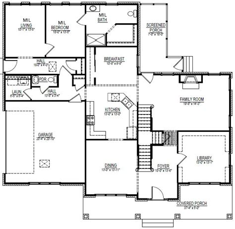 new home plans with inlaw suite small house plans with mother in law suite small mother in