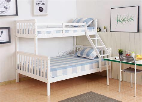 westwood bunk bed wooden frame children kids triple sleeper  mattress white ebay