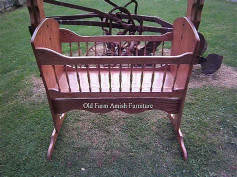 Farmers Baby Furniture by Crafted Solid Oak Rocking Baby Cradle By Farm