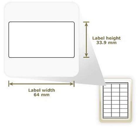 Apli Label White Paper 64 6 X 33 8mm 2400 Unit 01263 a4 self adhesive address labels 24 labels per page