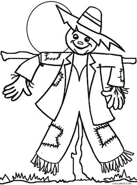 Printable Scarecrow Coloring Pages For Kids Cool2bkids Scarecrow Color Page