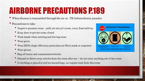 Negative Pressure Room Airborne Precautions by Module C Infection Ppt