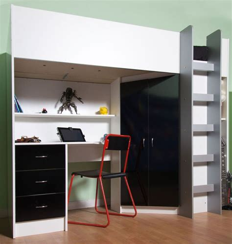 cabin bed with futon and desk 17 best ideas about high sleeper cabin bed on pinterest