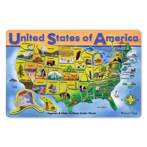 usa map puzzle and doug usa map large wooden puzzle educational toys planet