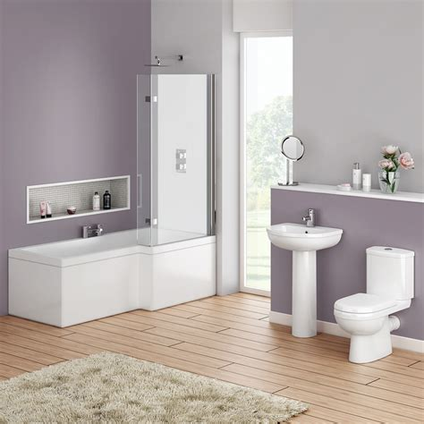 shower bath suites ivo modern shower bath suite at plumbing uk