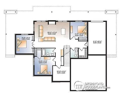 inspirational 4 bedroom ranch house plans with walkout