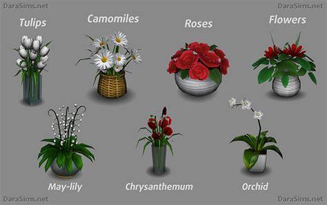 Set Flower 4 my sims 4 flowers set by dara