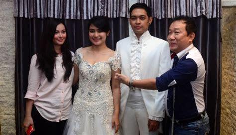 Kebaya Asmiranda asmirandah rancang gaun pengantin untuk adik ipar seleb