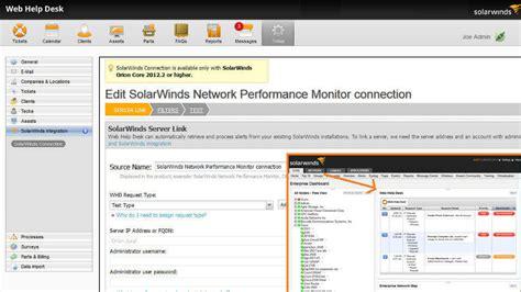 help desk it ticketing system solarwinds