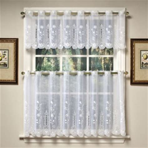 Sheer Kitchen Window Curtains Buy Sheer Window Tiers From Bed Bath Beyond