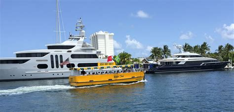 fort lauderdale boat show on the water 10 all day fare on the water taxi to fort lauderdale
